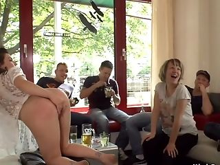 Euro First-timer Beauty Finger-tickled In Public
