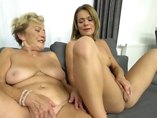 Old And Youthful Girl-on-girl Act Of Hookup-greedy Granny And Teenager Chick