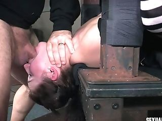Drooling Messy Tying Molestation Session For Teenager Brown-haired Stephie Staar