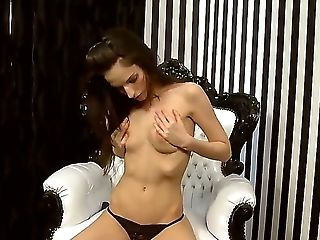 Ann Marie La Sante Spreads Her Beautiful Gams And Stimulates Her Ultra Humid Slit
