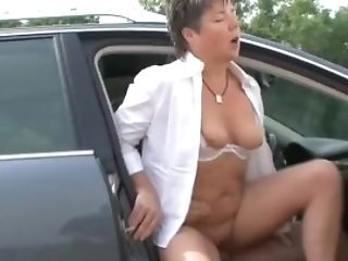 Chubby German Matures Public