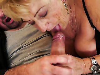 Blonde With Giant Breasts Gets Her Dribbling Moist Fuck Crevasse Rammed