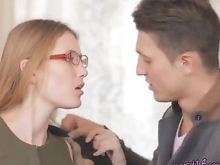 Horny Teenage Dork Anna Has Oral Lovemaking With Bf