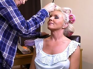Krista E. Does Valerinas Hair And Licks Her Hairy Coochie