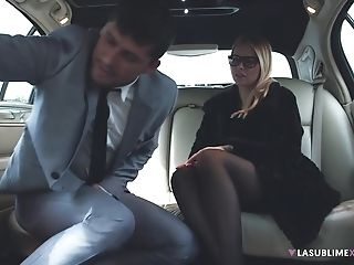 Charming Assistant Nikky Desire Fucked In The Limo By Her Manager