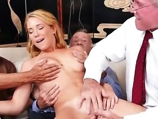 Blonde Nubile Old Fuck-stick Frannkie And The Group