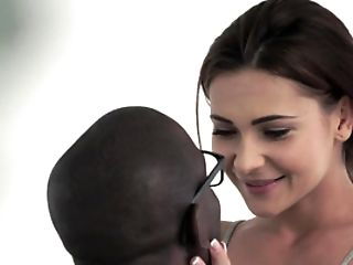 A Black Dude Is Fucking A Hot Milky Dark-haired In An Interracial Vid