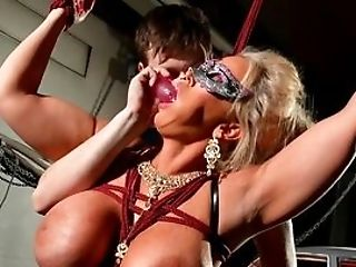 Trussed Manhood Bi-atch Alura Jenson Is Toyed With By A Stranger In A Chamber