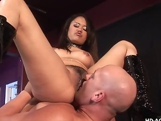 Superstar Annie Pegging Her Stud Asshole Using Strap Dildo