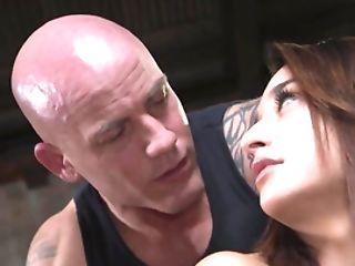 Bald Bruiser Bangs Latina Chick In His Secret Basement