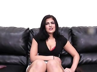 Dark Haired Cougar Stunner Yasmin Gets A Hard-core Fuck On A Reality Casting