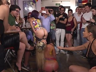 Tina Kay And Sienna Day In A Public Abjection Hard-core Session