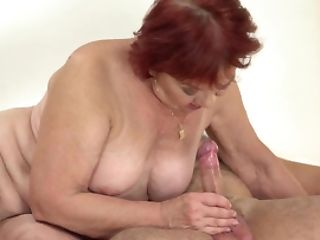 Crimson-haired Granny Marsha Is Blessed To Make Love To Teenage Boy Rob