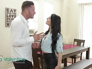 Gina Valentina Surprises A Friend By Massaging His Hard Manhood