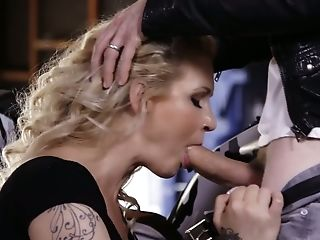 Biker Fucks Mega Huge-titted Whore Ryan Conner And Makes Her Cunt Blessed