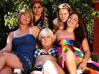 Five Old And Youthful Lesbos Go Moist And Wild