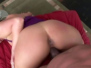 Big-boobed Mummy Attempts Unending Big Black Cock In Her Lil' Bum