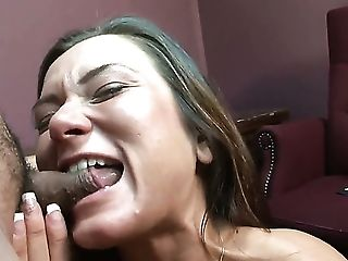 Cece Stone Lets Man Insert His Meat Stick In Her Mouth