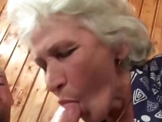 Granny Norma Bouncing On A Youthfull Guys Hard Penis.