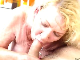 Old Blonde Tongues Bootie And Gets Fucked