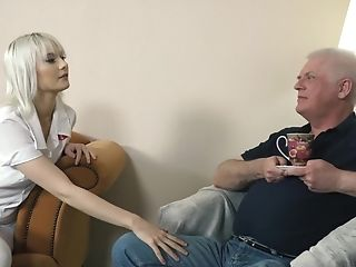 Youthfull Blonde Hard-core Deep Throat And Deep Taut Poon Fuck-fest