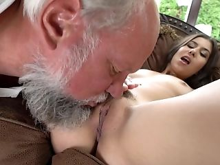 Older Dude Shows Gorgeous Anya Krey How Some Things Are Done