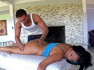 Kiara Is Too Tired To Workout Her Figure, So She Determines To Use Service Of Youthful And Big Massagist. The Choice Is Wise, So As Masseuses Meaty Be