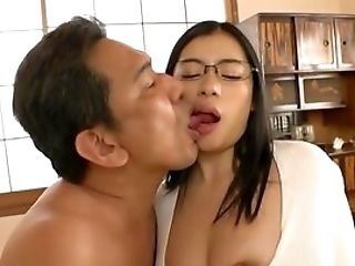 Huge-chested Japan With Sexy Glasses, Nasty Oral And Hump In Point Of View
